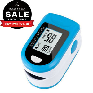 Finger Pulse Oximeter Blood Pressure Monitor Blood Oxygen Meter Spo2 O2 Monitor