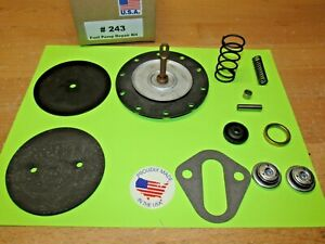 1958 To 1966 4445 4657 Ac Fuel Pump Rebuild Kit Corvette Chevy For Modern Fuels