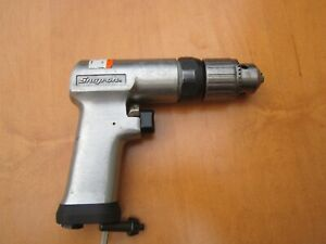 Snap On 3 8 Reversible Air Drill Pdr3a With Chuck Key
