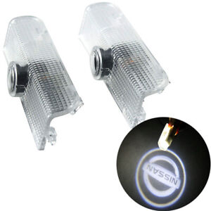 2pcs Car Led Door Projector Lights Welcome Lights Car Logo Courtesy Step Lamps