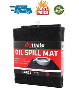 Oil Spill Mat reusable Washabley contains Liquids protects Driveway Surface