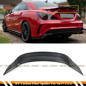 For 14 19 Mercedes Cla250 Cla45 Amg W117 R Style Carbon Fiber Trunk Spoiler Wing