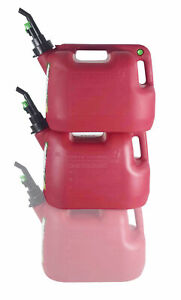 Fuelworx Red 5 Gallon Stackable Fast Pour Gas Fuel Can Carb Compliant 2 pack