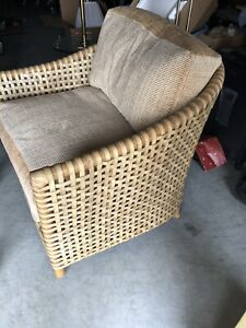 Mcguire Furniture Woven Leather Lounge Chair