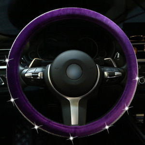 Diamond Bling Steering Wheel Cover For Women Girls Car Crystal Sparkly Leather