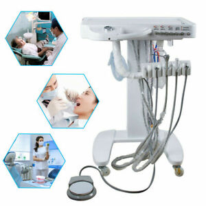 Dental Equipment Portable Self Delivery Mobile Cart System Unit weak Suction 4h