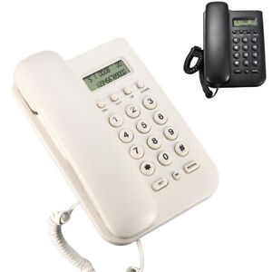 Landline Telephone Corded Wall Mount Lcd Display Home Desktop W Music On Phone