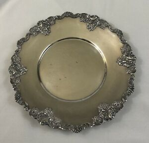 Vintage Wallace 11 Round Silver Plated Serving Platter