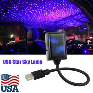 Mini Usb Led Car Roof Star Night Light Projector Atmosphere Lamp Starry Sky Home