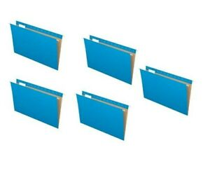 New 5 Folders Pendaflex Recycled Hanging Folder Legal Size Blue 1 5 Cut 81623