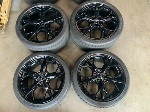 2020 Corvette C8 Stingray Factory 19 20 Wheels Tires Oem Black 23404165 23404168