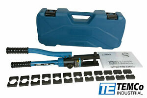 Temco Th0005 6 Ga 600 Mcm Hydraulic Lug Crimper Tool Cable Wire