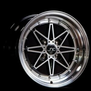 Jnc Wheels Rim Jnc002 Black Machined Face 15x8 4x100 Et25