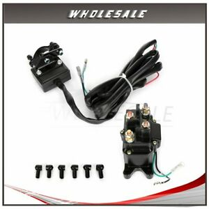 12v 12volt Solenoid Relay Contactor Winch Rocker Thumb Switch 1pcs