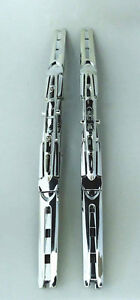 2x Chrome Double Windshield Wiper Blade For Hummber H2 2003 2009