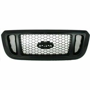 New Grille Textured Black Shell W Silver Insert Plastic For Ford Ranger 04 2005