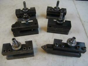 6 Enco Quick Change Turning Holders Facing Lathe Tool Post 1740