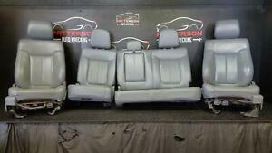 2013 Ford F150 Front Power heated Cooled Rear Gray Leather Seats