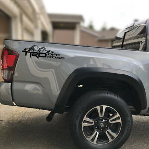 Trd Off Road Tacoma Tundra Truck Car Decals Mountain Toyota Vinyl X2 Stickers N