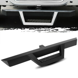 39 3 Tube Stainless Steel Black Tailgate Tow Hitch Drop Step Bar 2 Receiver