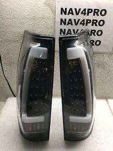 2002 2006 Chevy Avalanche 1500 2500 Led Tube Tail Lights Black Pair T61
