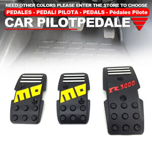 Black Universal Manual Mt Racing Sport Truck Car Non Slip Pedals Pad Cover Set