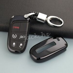 Car Key Chain Case Fob For Jeep Grand Cherokee Renegade Compass Dodge Journey