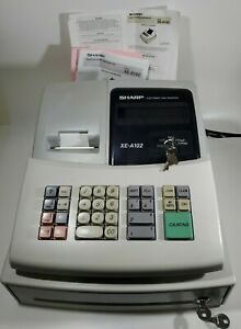 Sharp Xe a102 Electronic Cash Register With 4 Keys Original Manual Drawer