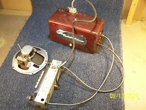 Motorola 551 Fire Wall Mount Red Car Radio W Control Head And Cables very Clean