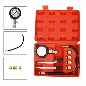 Engine Compression Tester Gauge Kit Cylinder Pressure Test Tool Kit 0 300 Psi