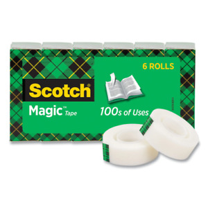 Scotch Magic Invisible Tape 3 4 X 27 77 Yds Pack Of 6 Rolls
