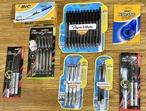 Bundle Of Bic And Papermate Pens Dry Erase Pens Ink Joy And Correction Tape