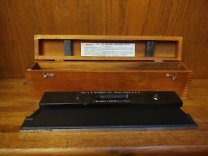 Vintage Starrett No 199 Master Precision Level With Wood Case Box Made In Usa