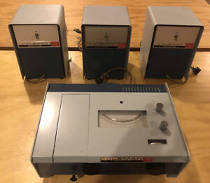 Coleman Hitachi 101 Spectrophotometer With 3 Power Supplies Deuterium Tungsten