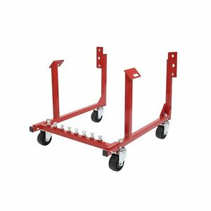 Motoos 1000lb Auto Engine Cradle Stand Withdolly Wheels Fit For Chevrolet Chevy