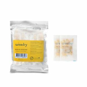 Wisedry 120 Packets 2 Gram Silica Gel Desiccant Packs With Color Indicating B