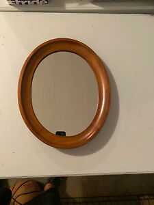 Tell City Chair Company Solid Hard Rock Maple Andover Oval Wall Mirror