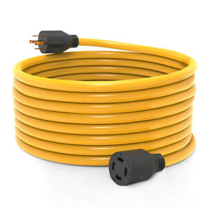 50 Ft 30 Amp L14 30 4 Prong Generator Power Cord 125 250v Ul Listed Copper Wire