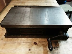 Brown Sharpe No 510 Magnetic Chuck 5 x 10 Permanent Magnet Type Manual Operated