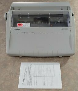 Brother Correctronic Gx 6750 Daisy Wheel Electronic Typewriter W Cover tested