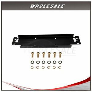 Steel Cable Winch Mounting Plate For 1987 2006 Jeep Wrangler Tj Yj