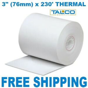 12 3 76mm X 230 Thermal Receipt Paper Rolls fast Free Shipping