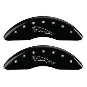 Mgp Caliper Covers Black Powder Coat Finish Silver 2015 Jaguar Xf Portfolio