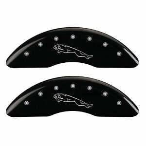 Mgp Caliper Covers Black Powder Coat Finish Silver 2015 Jaguar Xf Premium