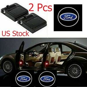 2x Wireless Car Door Led Welcome Courtesy Light Lamp Logo Us Stock For Ford