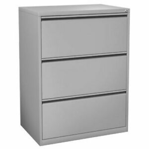 Officesource 8363 Light Gray 3 Drawer Lateral File Dimension 35 5w 19 75d 39 5h
