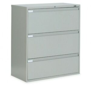 Global 9300 Series 3 Drawer Lateral File Light Gray 36 w X 18 d X 40 5 h