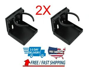 2pc Adjustable Folding Cup Drink Holder Mount Car Truck Boat Camper Rv white