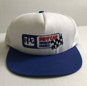 Vtg Ppg Indy Car World Series Racing Snapback Hat Cap Made In Usa