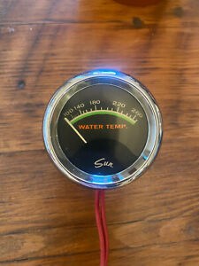 Vintage Sun Green Line 2 5 8 Water Temp Gauge Awesome Condition